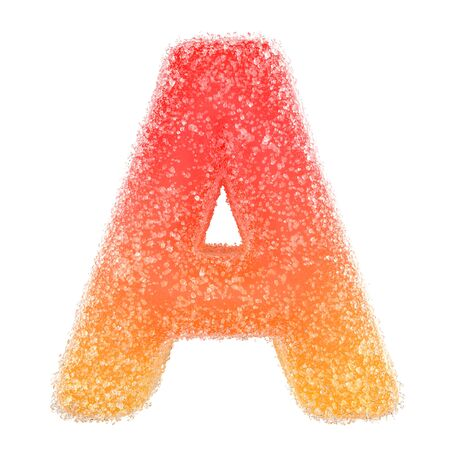 A - Letter of the alphabet made of candy