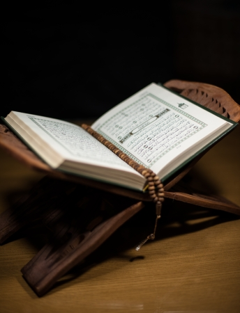 pages of holy koran and rosary at the book Stock Photo - 20225771