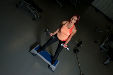 Fit woman working out photo