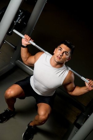 squats: Man doing squats