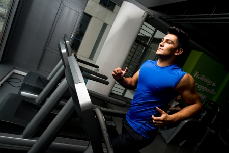 man machine: Running on treadmill