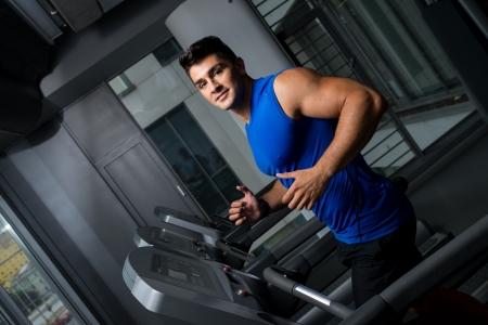 Running on treadmill photo