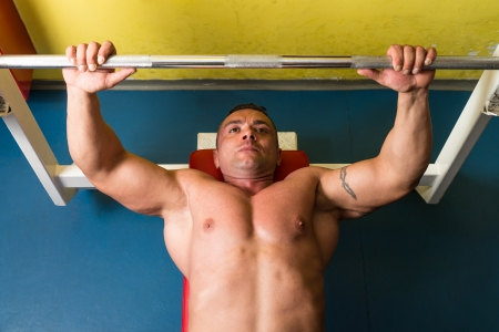 Man Working Out in the Gym photo