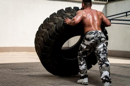 Drehen Reifen Standard-Bild