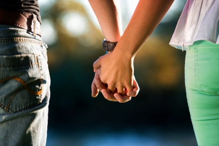 Couple Holding Hands Stock Photo - 22821538