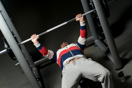 Effort On The Bench Press photo