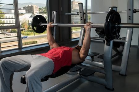 Weightlifter On Benchpress photo