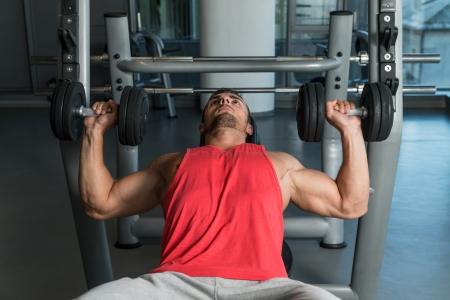 Exercising With Dumbbells Stock Photo