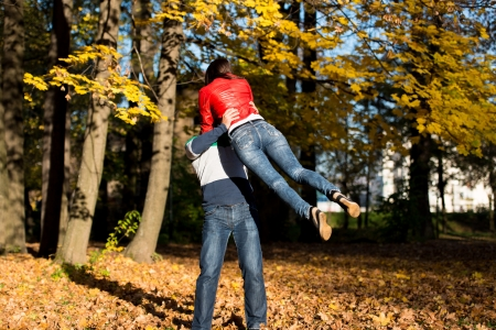 Man Spinning His Girlfriend photo