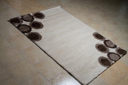 White Carpet Lying On Floor Stock Photo - 24843598