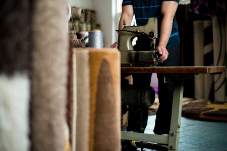 Carpet Designer With Sewing Machine photo