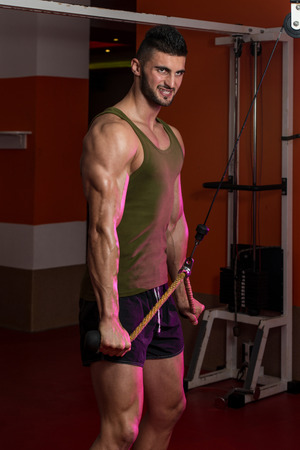 Triceps Exercise Stock Photo