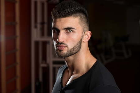 one young man only: Portrait Of A Young Handsome Man Stock Photo