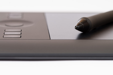 wacom: Drawing Tablet With Stylus Stock Photo