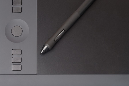 stylus: Drawing Tablet With Stylus Stock Photo