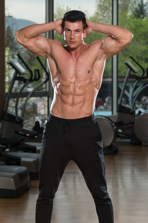 male male torso: Portrait Of A Physically Fit Man Showing His Well Trained Body