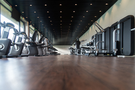 heavy heart: Equipment And Machines At The Modern Gym Room Fitness Center