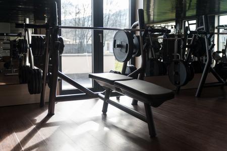 Attrezzature e macchine presso il moderno Palestra Camera Centro fitness Archivio Fotografico