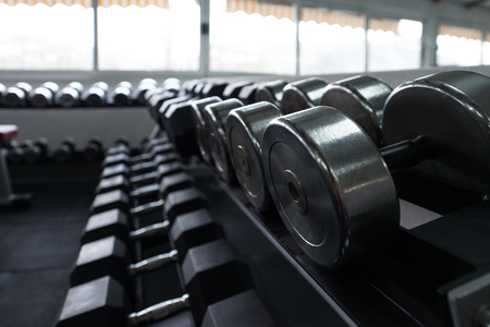 heavy heart: Modern Gym Room Fitness Center With Equipment And Machines