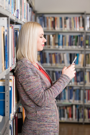 Student Happy With Online Learning Study By E-Learning Content Technology With Mobile Phone
