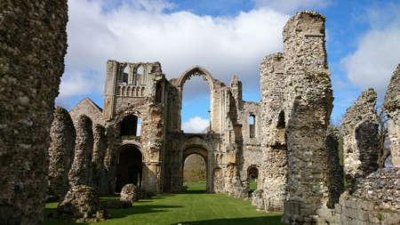 monastic: Castle Acre Priory Stock Photo