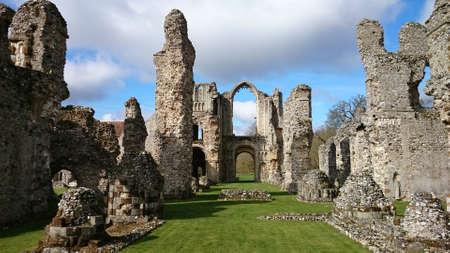 priory: Castle Acre Priory Stock Photo
