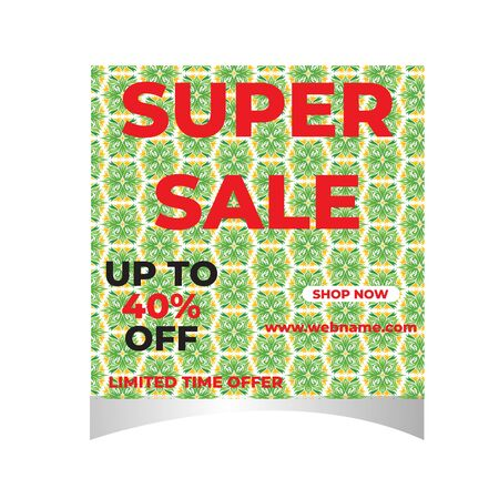 Super Sale Social Media Or  Post Template Stock Illustratie