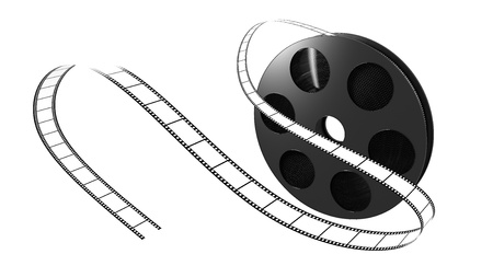 Illustration of a film roll opened isolated illustration