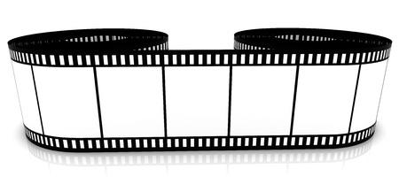 segmento: Pel�cula de color de segmento se enrolla sobre un fondo blanco
