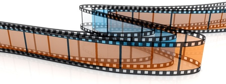 3d blank transparent films on white backgroung. Stock Photo