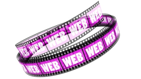 Segment color film rolled up with word Web Stock Photo - 8658925
