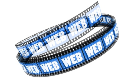 Segment color film rolled up with word Web Stock Photo - 8658922