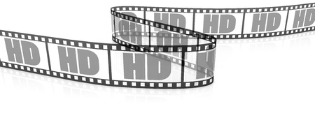3d film zigzag with word HD on it. photo