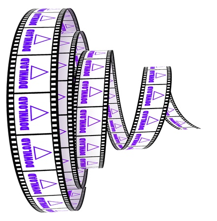 Film Segment rolled forward with word Download photo