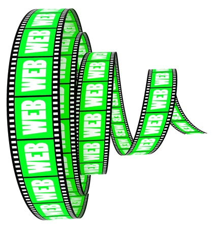 Film Segment rolled forward with word web Stock Photo - 8762384