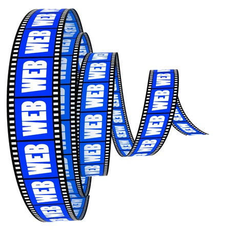 Film Segment rolled forward with word web photo