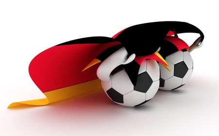 3D cartoon Soccer Ball characters with a Germany flag. Stock Photo - 8879644