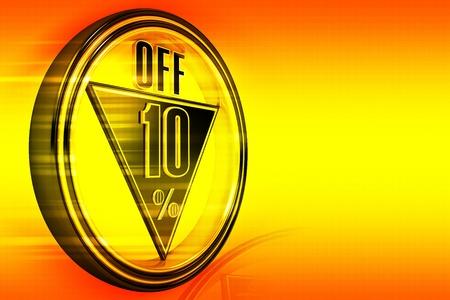 off 10 percent photo