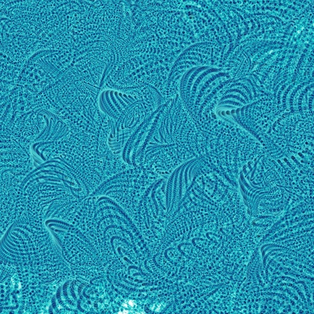 night vision: 3d rendering, representing a fluorescent- blue microscopic detail Stock Photo
