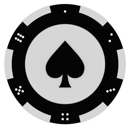 Fichas de casino colorido aisladas sobre fondo blanco Foto de archivo