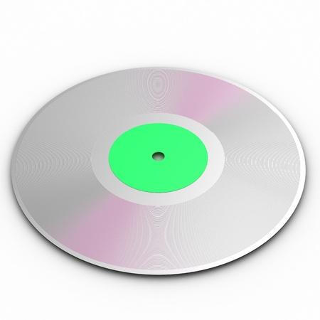 Black vinyl record lp album disc over white background photo