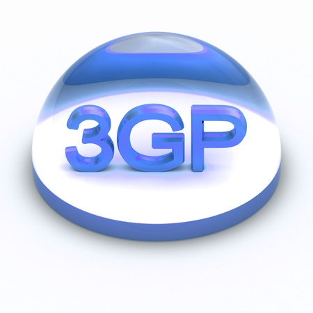compatible: 3D Style file format icon over white background - 3GP