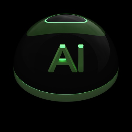 3D Style file format icon over black background - AI photo