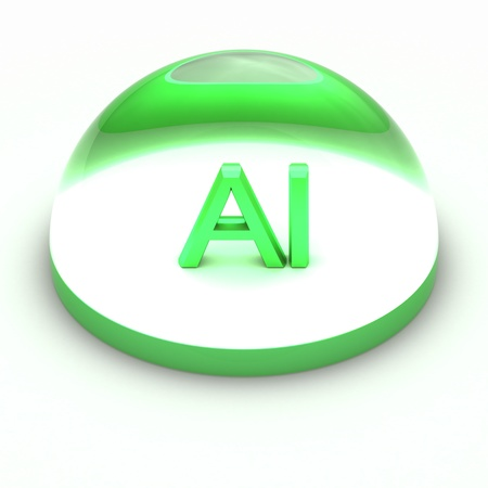 ai: 3D Style file format icon over white background - AI Stock Photo