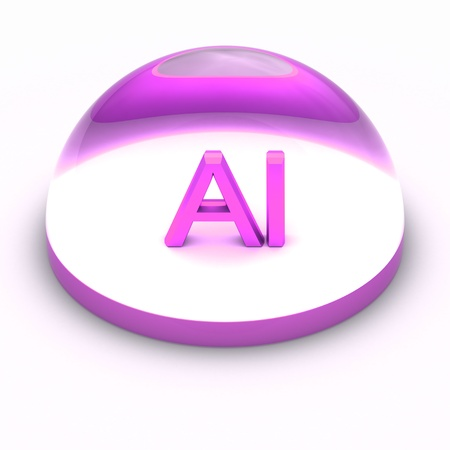 3D Style file format icon over white background - AI Stock Photo - 12845437
