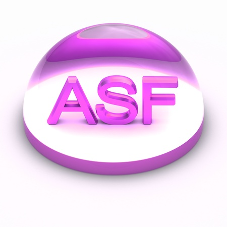 compatible: 3D Style file format icon over white background - ASF Stock Photo