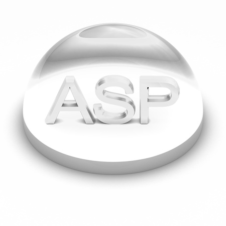 asp: 3D Style file format icon over white background - ASP