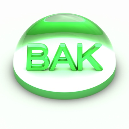 3D Style file format icon over white background - BAK photo