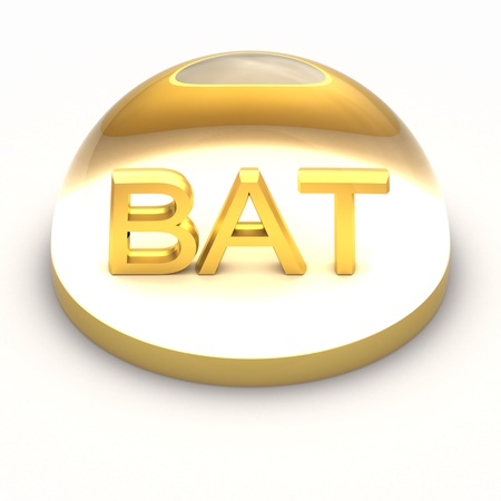 compatible: 3D Style file format icon over white background - BAT