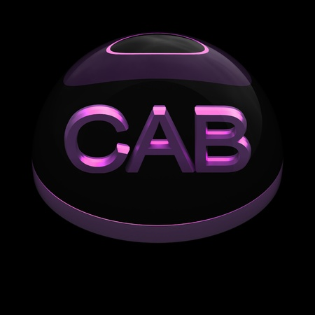 compatible: 3D Style file format icon over black background - CAB